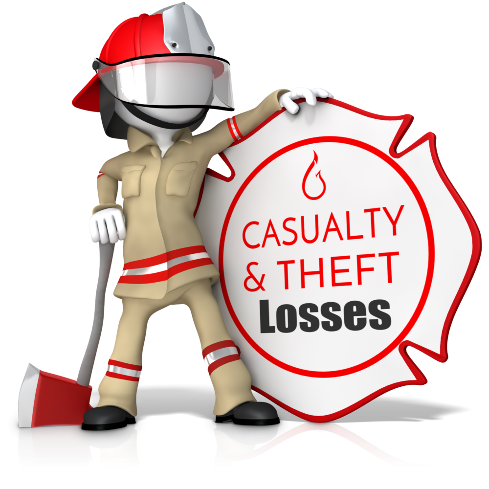 personal casualty and theft loss Second, you are able to deduct personal casualty and theft losses only when the total amount of the loss in any year (reduced by $100 a casualty loss is not deductible if the damages or destruction is caused by: a) accidentally breaking articles such as glass or china under normal conditions b) a.